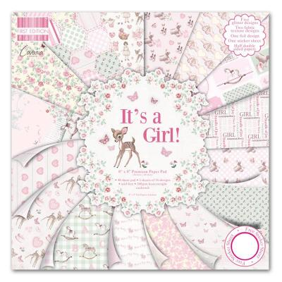 8x8'' Paper Pad It's a Girl