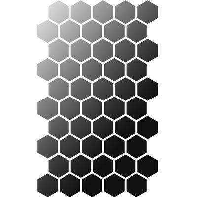 Hexagon-Muster - Universelle DIN A3 Schablone