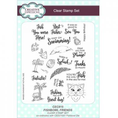 Clear Stamp Stempelset Fishbowl Friends