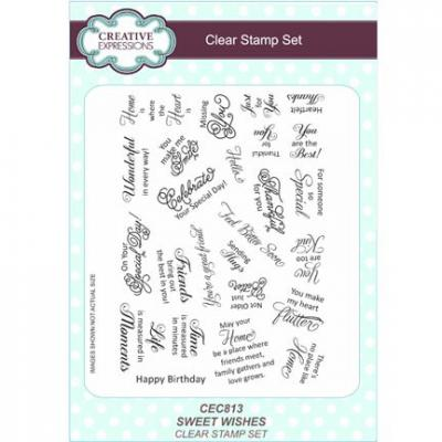 Clear Stamp Stempelset Sweet Wishes