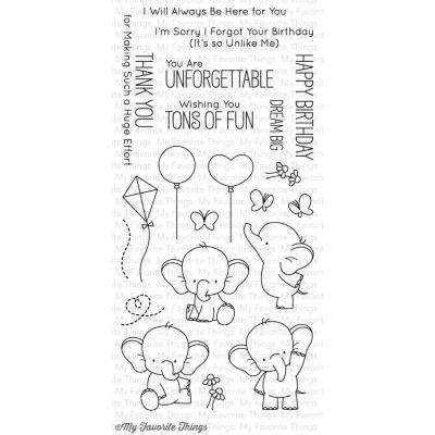 My Favorite Things Clear Stamp Adorable Elephants