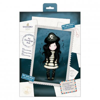 DIN A4 Decoupage Pack Santoro's Gorjuss Piraterie