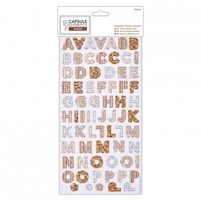 Elements Wood Alphabetsticker