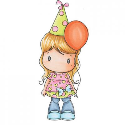Swiss Pixie Stempel Balloon Lucy