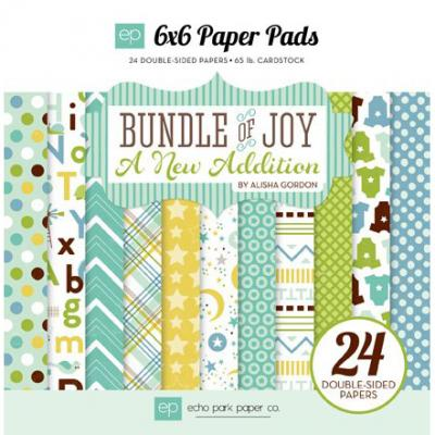 Bundle of Joy - A New Addition - Boy - 6x6'' Paper Pack