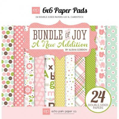 Bundle of Joy - A New Addition - Girl - 6x6'' Paper Pack