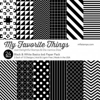 Black & White Basics 6x6'' Paper Pack