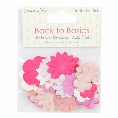 Back to Basics - Perfectly Pink - 30 Papierblumen