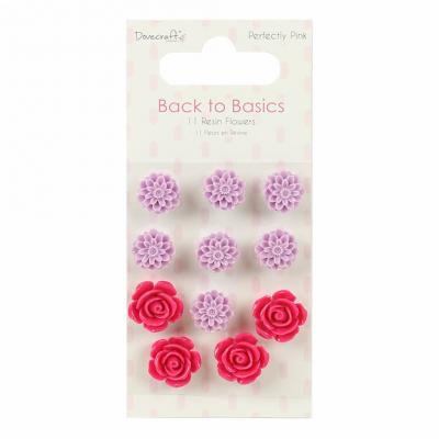 Back to Basics - Perfectly Pink - 11 Resin-Blumen