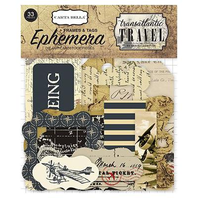 Transatlantic Travel - Die-Cuts Frames & Tags