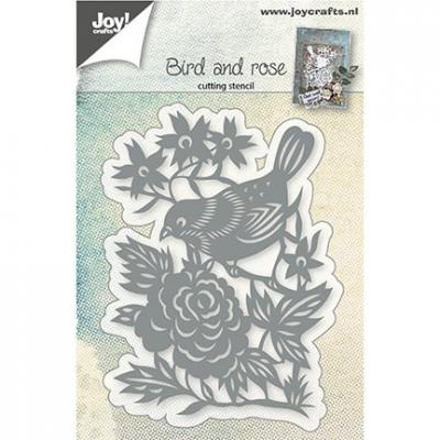 Joy!Crafts Stanzschablone - Vogel auf Rose