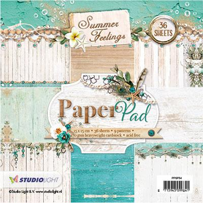 Summer Feelings Paper Pad, 15 x 15cm