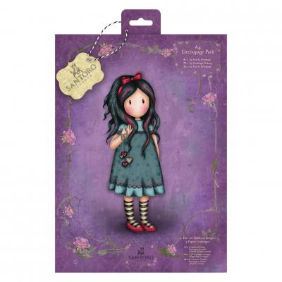 DIN A4 Decoupage Pack Santoro's Gorjuss Pulling On Your Heartstrings