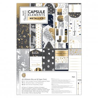 Capsule Collection - Elements Metallic - Stanz- & Papierblock, 48 Blatt, DIN A4