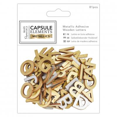 Capsule Collection - Elements Metallic - Holzbuchstaben