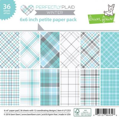 Lawn Fawn Paper Pad Perfectly Plaid Winter
