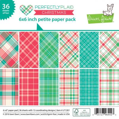 Lawn Fawn Paper Pad Perfectly Plaid Christmas