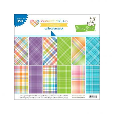 Lawn Fawn - Perfectly Plaid Rainbow Collection Pack