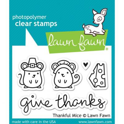 Lawn Fawn Stempelset Thankful Mice