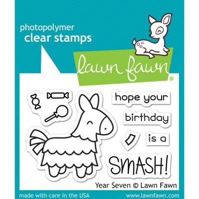 Lawn Fawn Clear Stamps - Year Seven