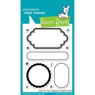 Lawn Fawn Stempelset Just For You Labels