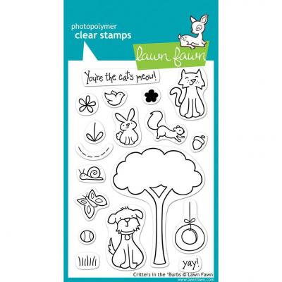Lawn Fawn Clear Stamps Critters In the 'Burbs
