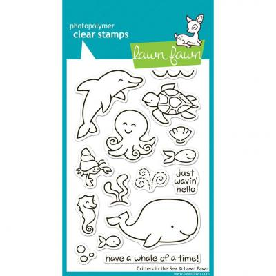 Lawn Fawn Clear Stamps Critters In the Sea