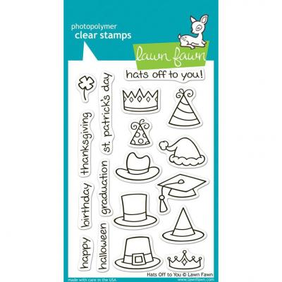 Lawn Fawn Clear Stamps Hats Off to You
