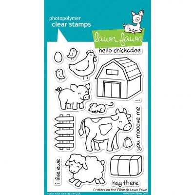 Lawn Fawn Clear Stamps Critters on the Farm