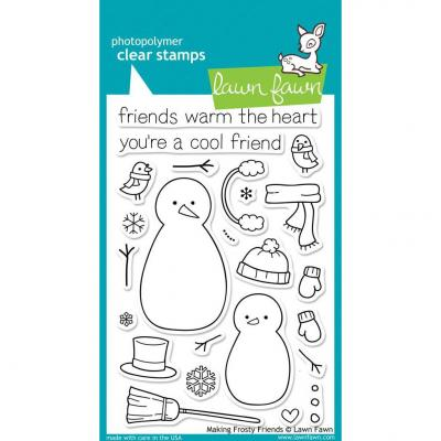 Lawn Fawn Clear Stamps Making Frosty Friends