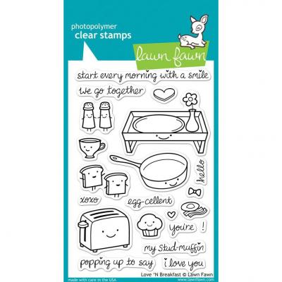Lawn Fawn Clear Stamps Love 'N Breakfast