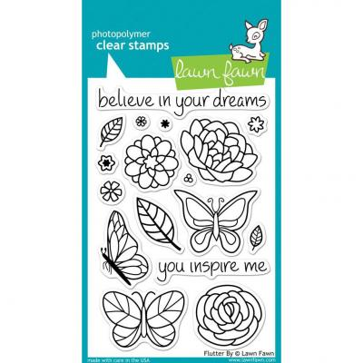 Lawn Fawn Clear Stamps Flutter By