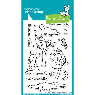Lawn Fawn Clear Stamps Critters Down Under