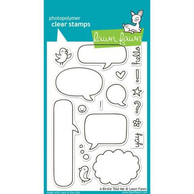 Lawn Fawn Clear Stamps A Birdy Told Me