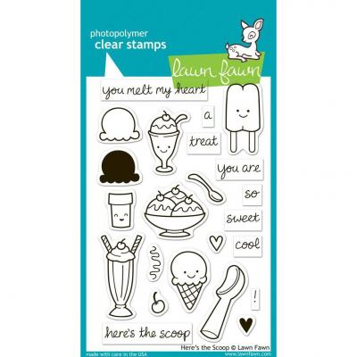 Lawn Fawn Clear Stamps Here's the Scoop