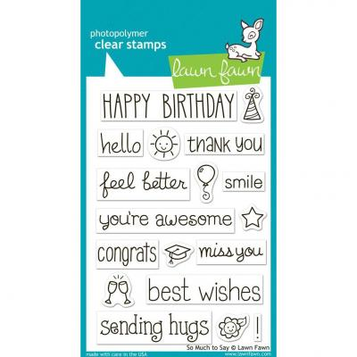 Lawn Fawn Clear Stamps So Much To Say