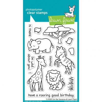 Lawn Fawn Clear Stamps Critters on the Savannah