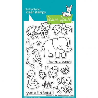 Lawn Fawn Clear Stamps - Critters In The Jungle