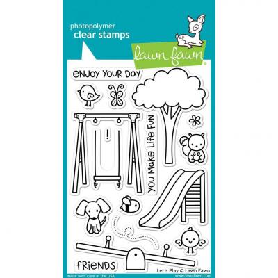 Lawn Fawn Clear Stamps - Let's Play