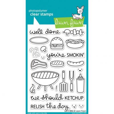 Lawn Fawn Clear Stamps - Let's BBQ