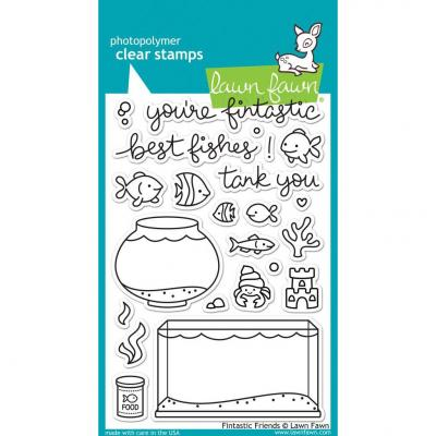 Lawn Fawn Clear Stamps - Fintastic Friends