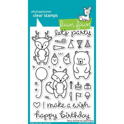 Lawn Fawn Clear Stamps - Party Animal