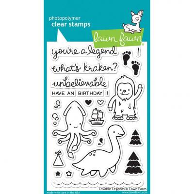 Lawn Fawn Clear Stamps - Loveable Legends