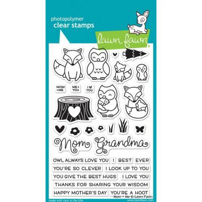 Lawn Fawn Clear Stamps - Mom + Me