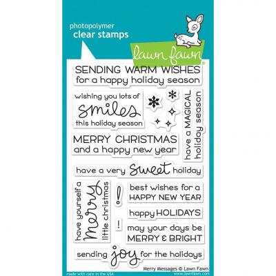 Lawn Fawn Clear Stamps - Merry Messages