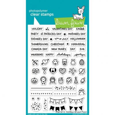 Lawn Fawn Clear Stamps - Plan On It: Holidays
