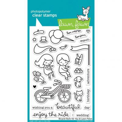 Lawn Fawn Clear Stamps - Bicycle Built For You