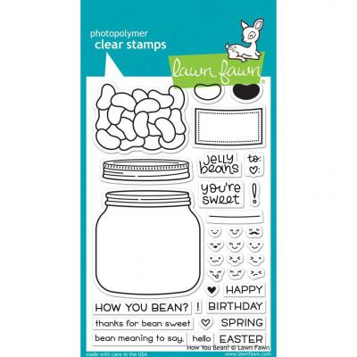 Lawn Fawn Clear Stamps - How You Bean?