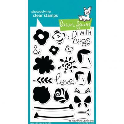 Lawn Fawn Clear Stamps - Fab Flowers