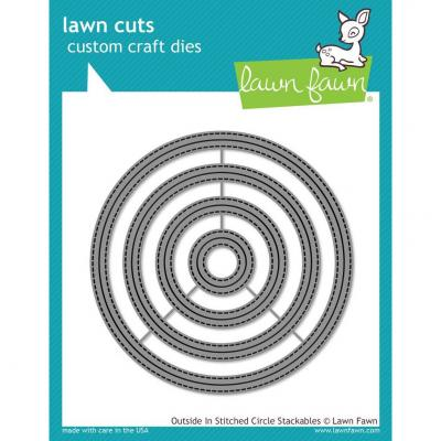 Lawn Fawn Stanzschablone Outside In Stitched Circle Stackables